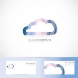Cloud computing logo 3d Stock Photography
