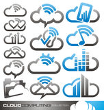 Cloud computing logo design concepts and ideas Stock Images