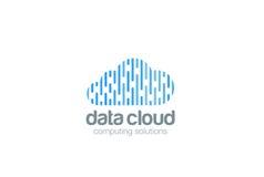 Cloud computing Logo design Data Storage network t Royalty Free Stock Image