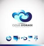 Cloud computing logo icon design Royalty Free Stock Photography