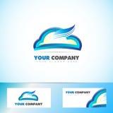 Cloud computing logo icon Stock Images