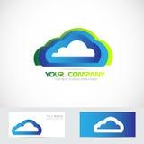 Cloud computing logo Stock Photos