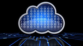 Cloud computing. Loop able animation of a cloud computing concept