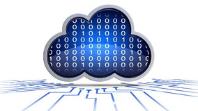 Cloud computing. Loop able animation of an cloud computing concept royalty free illustration