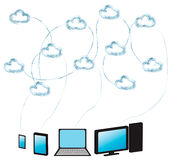 Cloud computing made from water royalty free illustration