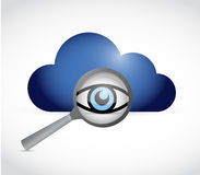 Cloud computing and magnify search review Stock Photos