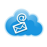 Cloud, computing, mail service illustration. Stock Photos
