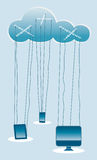 Cloud Computing Marionettes Royalty Free Stock Photography