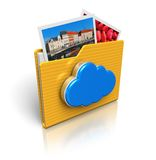 Cloud computing and media storage concept Royalty Free Stock Photography