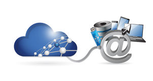 Cloud computing media technology network Stock Photos