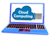 Cloud Computing Memory Means Computer Networks And Servers Stock Photo