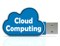 Cloud Computing Memory Stick Means Computer Stock Images
