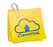 Cloud computing message and illustration on a post Royalty Free Stock Photography