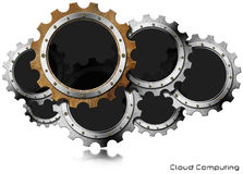 Cloud Computing - Metal Gears Royalty Free Stock Photos