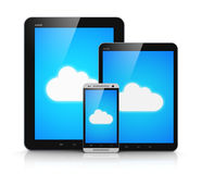 Cloud computing on mobile devices Royalty Free Stock Photos