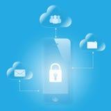 Cloud computing mobile security Stock Photo