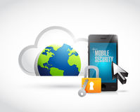 Cloud computing mobile security phone Royalty Free Stock Photo