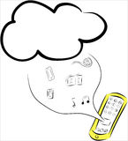 Cloud computing and Mobile, Tablet Stock Photography