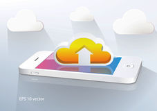Cloud computing and mobility. Stock Image