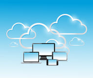 Cloud computing modern technology network Stock Image
