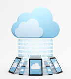 Cloud computing with multiple devices Royalty Free Stock Images