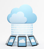 Cloud computing with multiple devices Royalty Free Stock Photography
