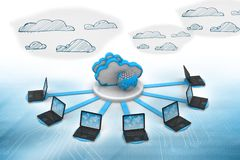 Cloud computing network. Abstract background Stock Photography