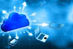 Cloud computing network Royalty Free Stock Photo