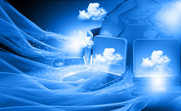 Cloud computing network. Abstract background Stock Images