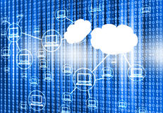 Cloud computing network Stock Images
