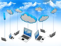 Cloud computing network. Abstract background Royalty Free Stock Photos