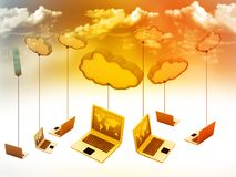 Cloud computing network. Abstract background Royalty Free Stock Photo