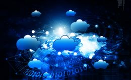 Cloud computing network. Abstract background Stock Photo