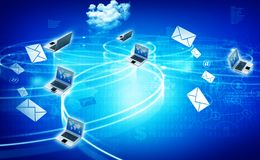 Cloud computing network. Abstract background Stock Image