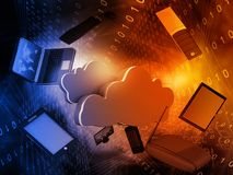 Cloud computing network. Abstract background. Digital illustration Stock Photo