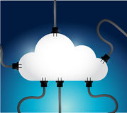 Cloud computing network communication connections Stock Photos