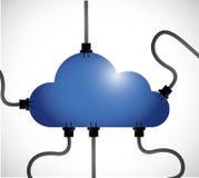 Cloud computing network communication Stock Photo