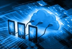 Cloud computing network concept. Abstract background Royalty Free Stock Photos