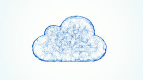 Cloud computing network concept Stock Photo