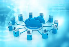 Cloud computing network concept. Abstract background Royalty Free Stock Images