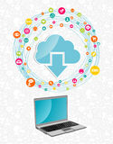 Cloud computing network concept Royalty Free Stock Image