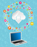 Cloud computing network concept Royalty Free Stock Photography