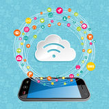 Cloud computing network concept Royalty Free Stock Images