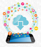Cloud computing network concept Stock Images