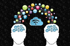 Cloud computing network concept Stock Image