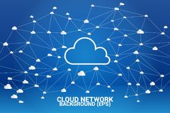 Cloud computing network concept polygon dot connected line : Concept of cloud server, Storage and data stock images