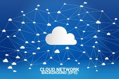 Cloud computing network concept polygon dot connected line : Concept of cloud server, Storage and data Stock Image