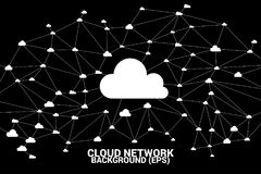 Cloud computing network concept polygon dot connected line : Concept of cloud server, Storage and data stock photo