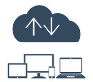 Cloud computing Network Connected all Devices. Stock Photography