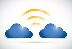 Cloud computing network connection Royalty Free Stock Photos